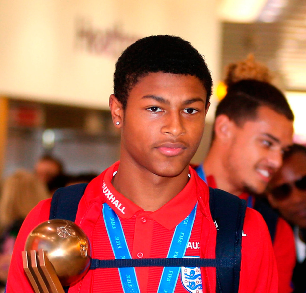 England Under-17 and Liverpool striker Rhian Brewster Photo: PA