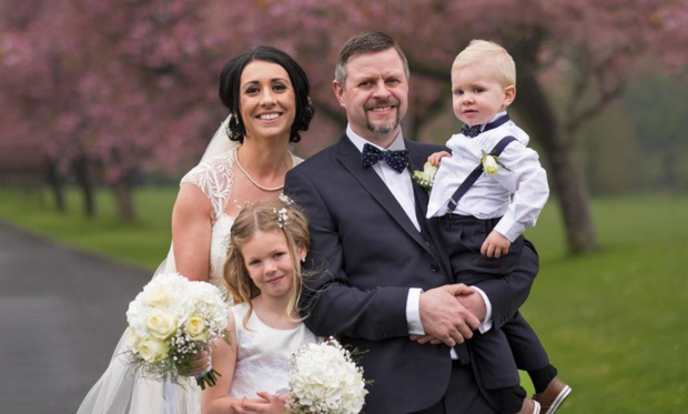 Tammy Lines, her husband Stephen and their children Daisy and Noah.