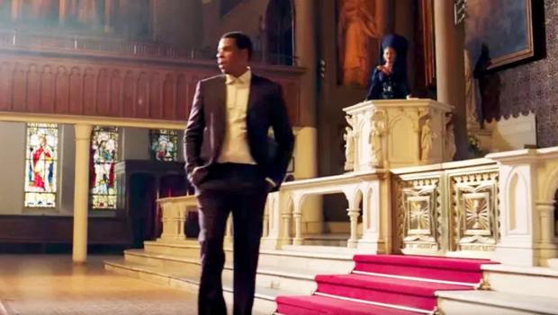 Jay Z and Beyonce in Jay Z's 'Family Feud' video