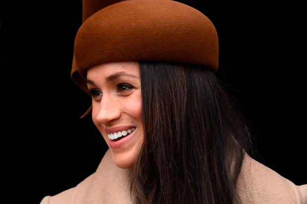 Meghan Markle leaves the Christmas Day morning church service at St Mary Magdalene Church in Sandringham, Photo: Joe Giddens/PA Wire