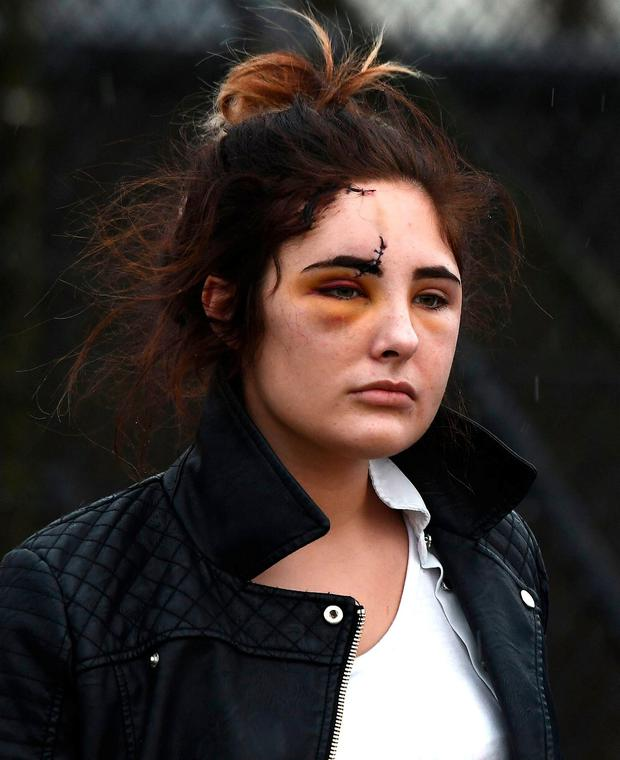 Charlotte Reat (daughter of Jayne) leaves Craigavon Court Photo Colm Lenaghan/Pacemaker Press