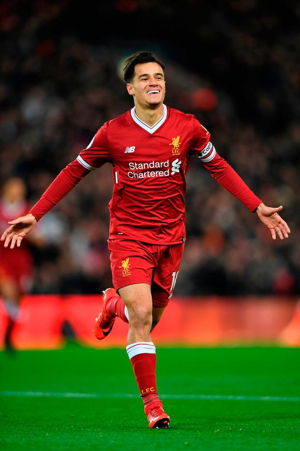 Liverpool midfielder Philippe Coutinho. Photo: Getty Images