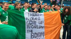 OLE OLE: The Irish fans called it first — Ireland's doing well, economically at least.