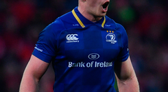 Dan Leavy of Leinster during the Guinness PRO14 Round 11 match between Munster and Leinster at Thomond Park in Limerick. Photo by Ramsey Cardy/Sportsfile