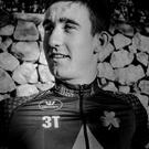 Eddie Dunbar, pictured during a training camp in Spain last month, will ride for the Irish ProContinental team Aqua Blue Sport this year Karen M. Edwards