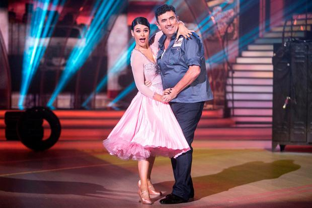 Karen Byrne and Des Cahill on 'Dancing with the Stars'. Photo: Kyran O'Brien