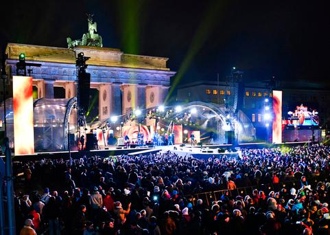 The 2016 New Year's Eve party in Berlin, Germany Photo: Jens Kalaene/dpa via AP, file