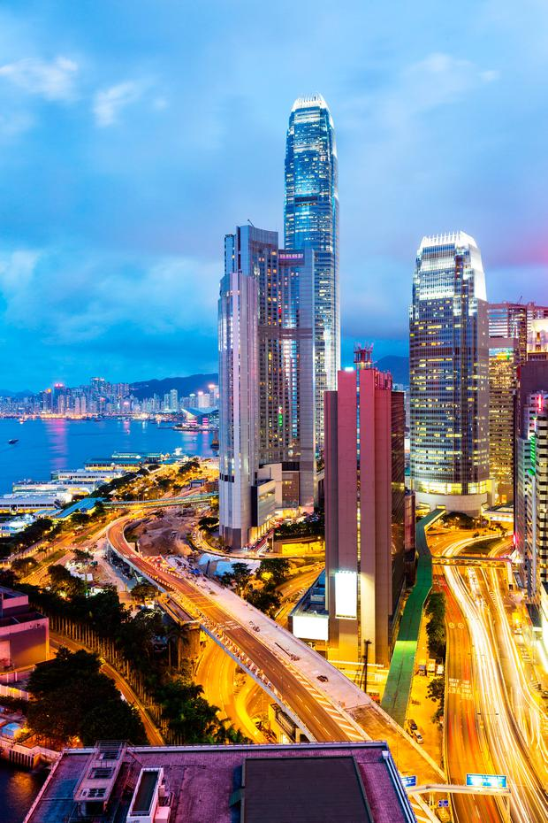 China - aided by cities such as Hong Kong, pictured - is likely to overtake the United States as the world's top economy in 2032