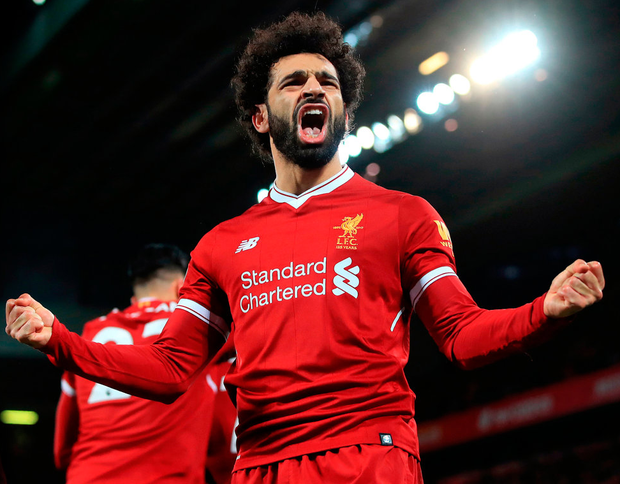 Mohamed Salah has been the player of the season so far for Liverpool