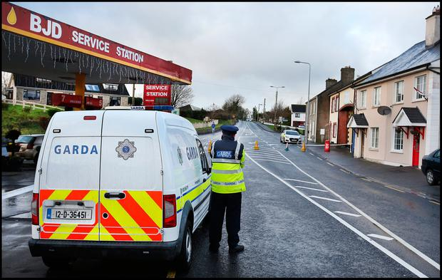 The scene of the fatal stabbing on the Dublin Road in Ballyjamesduff Co Cavan. Pic Steve Humphreys 1st January 2018