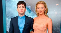 Actor Barry Keoghan, with girlfriend Shona Guerin, said he had learned a lot from Colin Farrell. Photo: Jamie McCarthy/Getty Images
