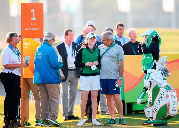 Leona Maguire has consulted Paul McGinley about going pro since the Rio Olympics. Photo by Stephen McCarthy/Sportsfile