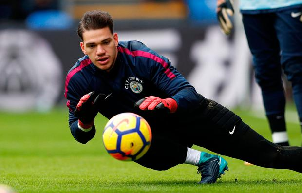 Ederson acknowledged the resilience of Palace, but felt City were still the better side. Photo: Reuters/John Sibley