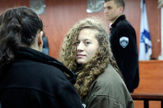 Ahed Tamimi is charged with punching an Israeli soldier. Photo: Reuters/Ammar Awad