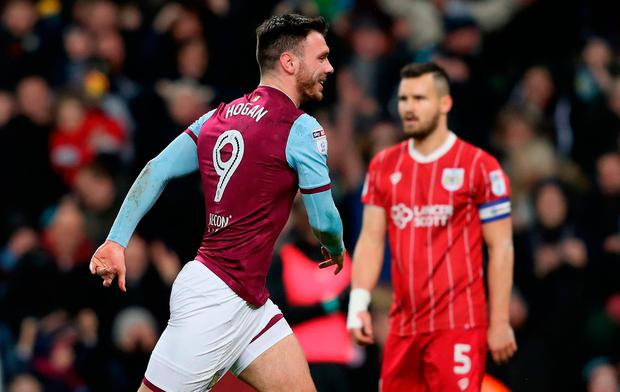 Scott Hogan of Aston Villa. Photo by David Rogers/Getty Images