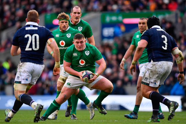4 February 2017; Tadhg Furlong of Ireland during the RBS Six Nations Rugby Championship match between Scotland and Ireland at BT Murrayfield Stadium in Edinburgh, Scotland. Photo by Ramsey Cardy/Sportsfile