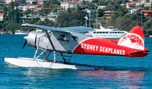 A Sydney Seaplanes' single-engine DHC-2 Beaver Seaplane. Photo: David Oates/PA