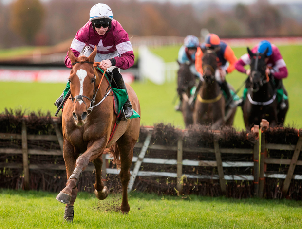 Samcro and Jack Kennedy dominate the Monksfield Novice Hurdle (Grade 3). Photo: Patrick McCann