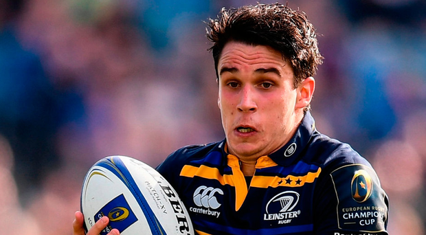 Leinster's Joey Carbery is stepping up his rehabilitation from a broken wrist. Photo: Sportsfile