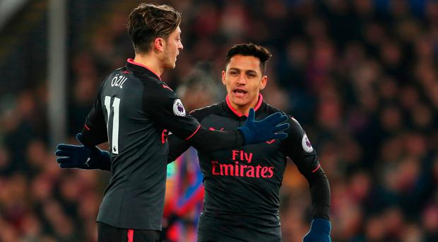 Mesut Ozil and Alexis Sanchez. Photo: Getty Images