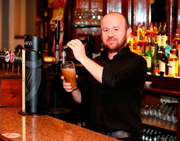 Jason Doyle, assistant bar manager at the Speaker Conolly bar in Firhouse. Photo: Damien Eagers