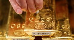 Bullion for immediate delivery advanced 0.7pc to $1,312.03 at one stage yesterday in London. Stock photo: Reuters