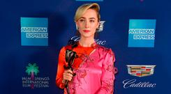 Saoirse Ronan, winner of Desert Palm Achievement award at the 29th Annual Palm Springs International Film Festival Awards Gala at Palm Springs Convention Center on January 2, 2018 in Palm Springs, California. (Photo by Frazer Harrison/Getty Images for Palm Springs International Film Festival )