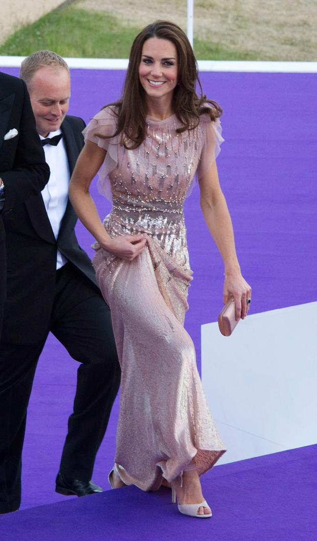 LONDON, ENGLAND - JUNE 09: Catherine, Duchess of Cambridge attends the ARK 10th Anniversary Gala Dinner at Perk's Field on June 9, 2011 in London, England. (Photo by Arthur Edwards - WPA/Getty Images)