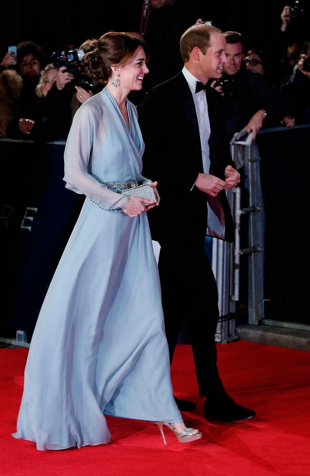 LONDON, ENGLAND - OCTOBER 26: Catherine, Duchess of Cambridge and Prince William, Duke of Cambridge attend the Royal Film Performance of