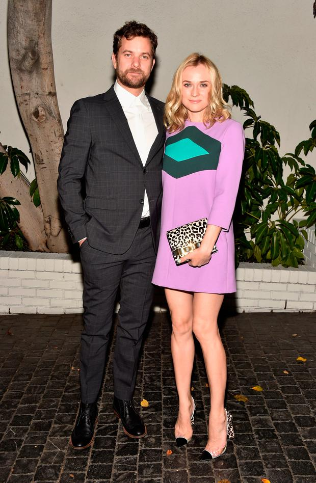 Actors Joshua Jackson (L) and Diane Kruger attend the W Magazine celebration of the 'Best Performances' Portfolio and The Golden Globes with Cadillac and Dom Perignon at Chateau Marmont on January 8, 2015 in Los Angeles, California. (Photo by Frazer Harrison/Getty Images for W Magazine)