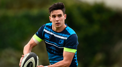 23 October 2017; Leinster's Joey Carbery during squad training at UCD in Dublin. Photo by Seb Daly/Sportsfile