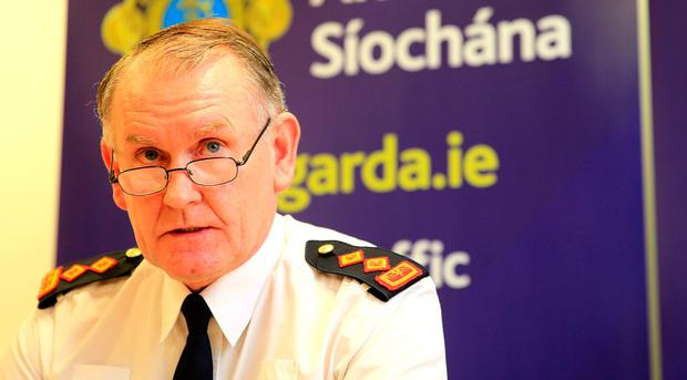 Chief Supt Christy Mangan pictured at the press briefing in Dundalk Garda station. Picture; Gerry Mooney