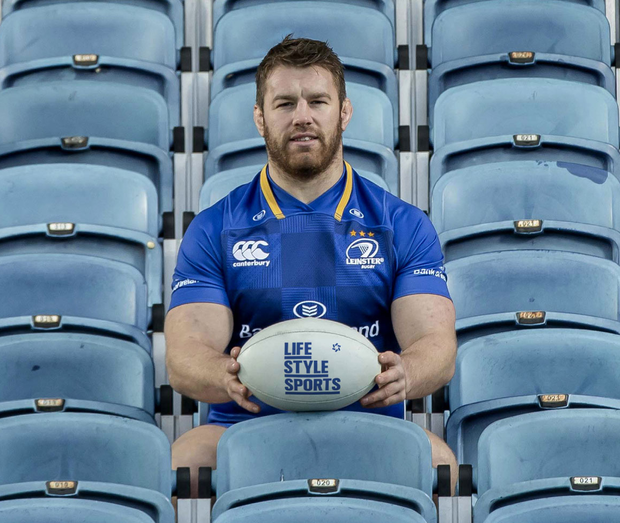 Leinster's Sean O'Brien at the launch of Life Style Sports' 'Own the Jersey Own the Seat' competition. Photo: INPHO/Morgan Treacy