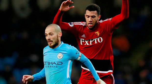 Manchester City star David Silva has revealed his son was born prematurely in Spain and is 'fighting day by day'. Photo: Jason Cairnduff/Action Images via Reuters