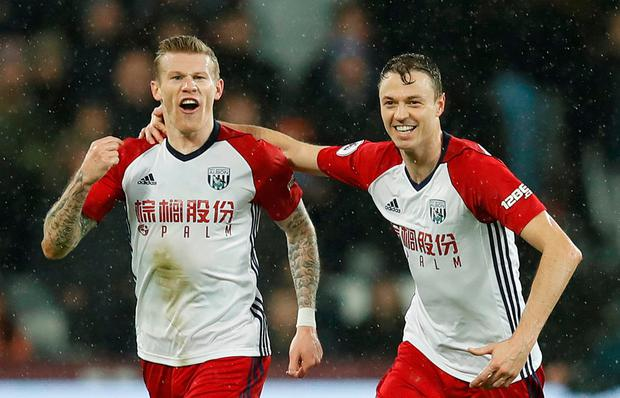 James McClean scored for West Brom on the night of the robbery. Photo: PA