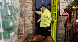 Minister Kevin 'Boxer' Moran at the Spanish Arch area in Galway. Photo: Andrew Downes/Xposure