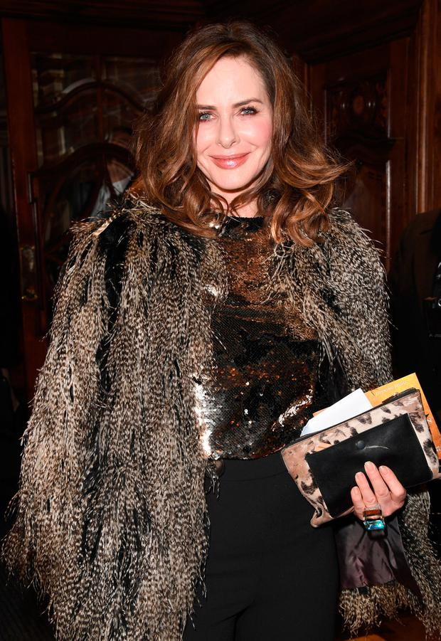 Trinny Woodall attends the opening night of 'Hamilton' at Victoria Palace Theatre on December 21, 2017 in London, England. (Photo by Stuart C. Wilson/Getty Images)