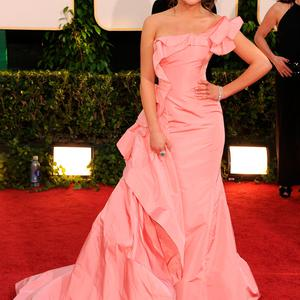 Lea Michele arrives at the 68th Annual Golden Globe Awards held at The Beverly Hilton hotel on January 16, 2011 in Beverly Hills, California. (Photo by Frazer Harrison/Getty Images)