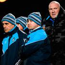Pat Gilroy with selector Anthony Cunningham and goalkeeping coach Brendan McLoughlin during the match against Meath. Photo by Stephen McCarthy/Sportsfile