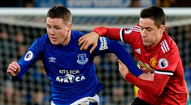 James McCarthy gets away from Ander Herrera. Photo: Tony McArdle/Getty Images