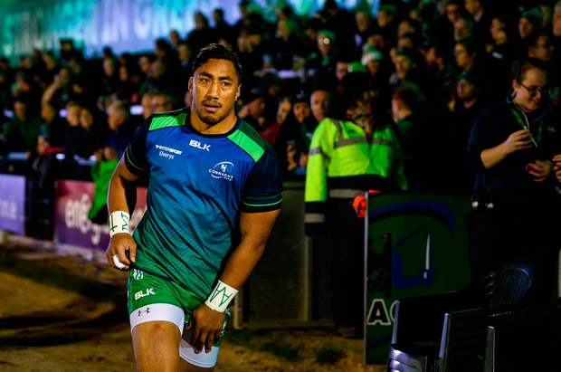 Bundee Aki came out on top in his duel with Garry Ringrose on New Year's Day. Photo by Diarmuid Greene/Sportsfile