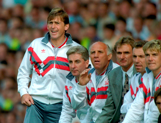 The 1991 4-4 draw between Liverpool and Everton was Kenny Dalglish's last game in charge of the Anfield club. Photo: David Cannon/Allsport