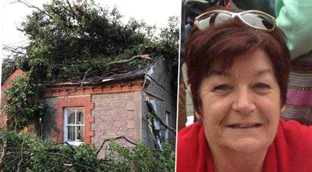 Mary Dardis has been left homeless after her cottage was destroyed by Storm Eleanor