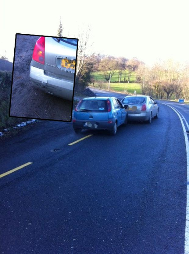 The scene of the collision in Co Monaghan