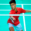Nhat Nguyen in action in the Irish Badminton Open final. Photo: Eóin Noonan/Sportsfile