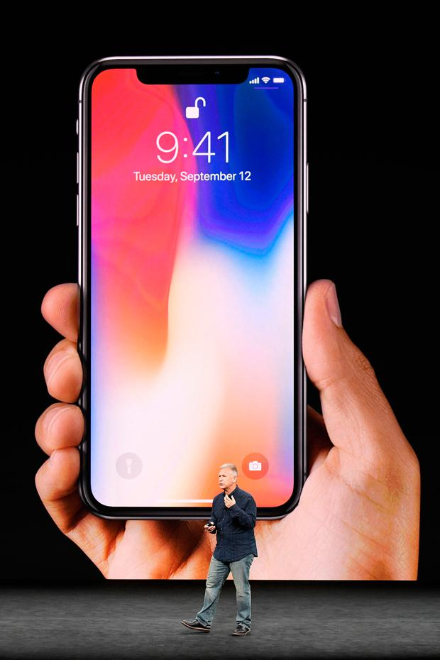 Apple has warned its products including the new iPhone X (pictured) must be updated to protect from hackers