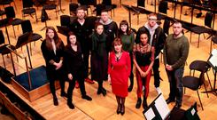 Culture Minister Josepha Madigan met with artists Éna Brennan, Lisa Dowdall, Paul Noonan , Lisa Hannigan , Adam Fogarty, Maria Kelly, Noah, Carl Mangan and Stephen James Smyth as she launched Culture Ireland's 2018 Programme in Britain