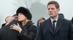 More like a travelogue: Juliet Rylance and James Norton in BBC1 thriller McMafia