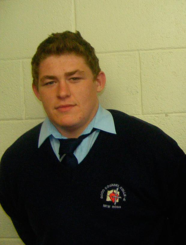 Tadhg in his Good Counsel uniform during his school days