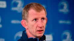 Head coach Leo Cullen during a Leinster Rugby press conference Photo: Sportsfile